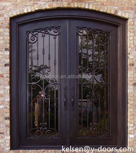 wrought iron double door, popular design