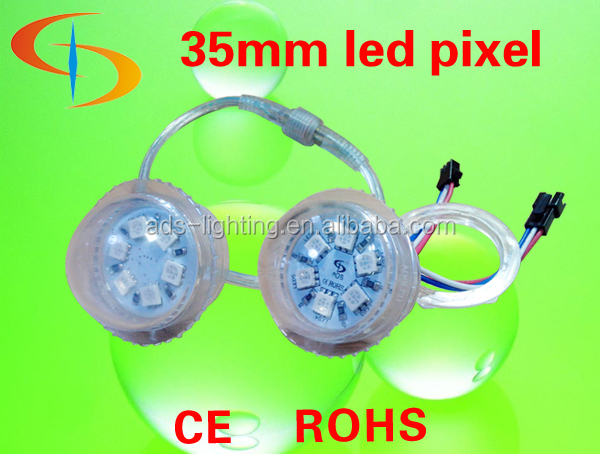 6pcs SMD5050 35mm Led Pixel light UCS1903 string, DMX control rgb led pixels for amusement rides