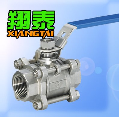 Stainless Steel NPT Female Thread 3PC Ball Valve, SS316, 1000WOG