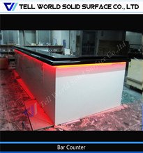 Customized bar counter/stylish bar counter design/pure white bar funiture