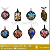 New Designs Heart Leaf Shaped Lampwork Glass Pendant Necklace