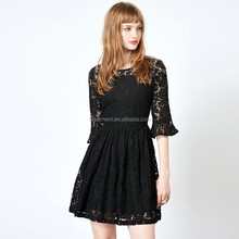 2017 New Arrival Fashion Sexy Lace See-Through Dress