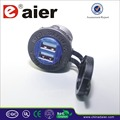 usb car charger, double port USB charger socket 4.2A 5VDC rating!