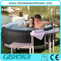Outdoor inflatable pool float hot tub massage bathtub 4 persons