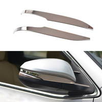 2Pcs/Set Car Rearview Mirror Decoration Cover For Toyota Highlander 2014 2015 ABS Trim Chrome Accessories