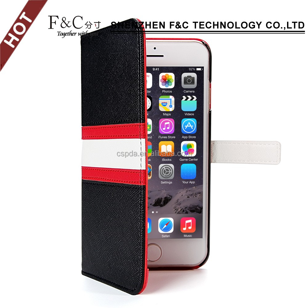 2017 hot new products diy cross line stitch bumper case for iphone 7 wallet slip leather standing case