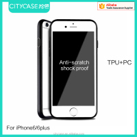 city&case tpu pc mobile case 360 protector case for iPhone 6 6s plus