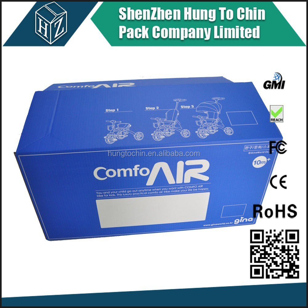 2 color lithographic laminate corrugated box