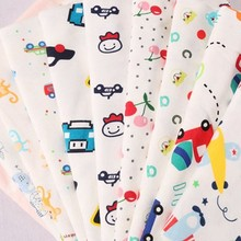 new design healthy custom cartoon print interlock 100% cotton fabric for bed sheets