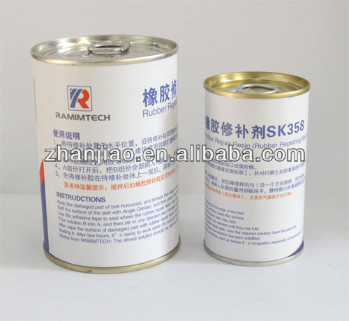 conveyor belt cold rubber repair resin for surface hole filling
