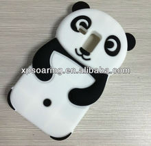 3D cute panda silicone case cover for Samsung Galaxy S3 mini I8190