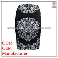 2017 Summer Popular Clothing OEM/ODM Manufacturer placement print skirt