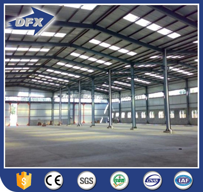 steel roof light steel frame prefab warehouse