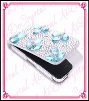 Aidocrystal Handmade gorgeous crystal 3d alloy bling cell phone case for i6s 4g diamond studded mobile phone case for apple