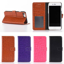 Factory Directly Sell Leather Flip Mobile Phone Card Holder Case for iPhone 7