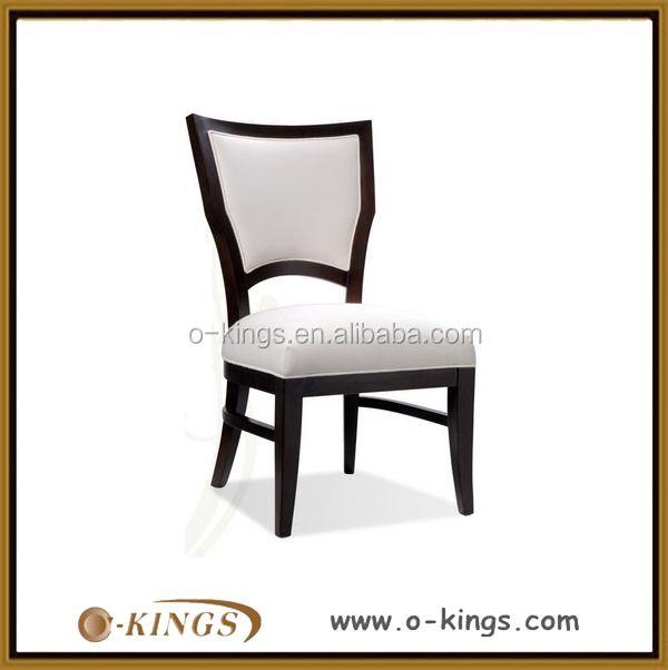 Wooden frame white leather butterfly chair