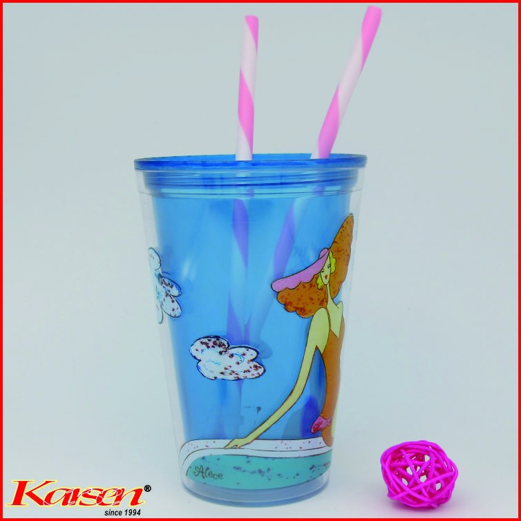 Free ship, Starbuck's supplier direct sale with stopper BPA Free Pink White Strip Straws