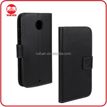 Manufacturer Wholesale With Card Holder Book Pouch Stand Flip Wallet Moto X2 Leather Case Cover