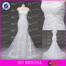 Real Photo Custom Made Sweetheart Neckline Lace Appliqued Sequins Mermaid Wedding Dress Patterns