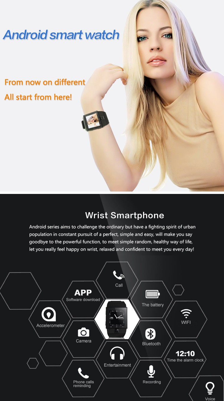 New Design 3G android smart watch phone