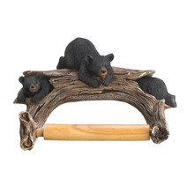 Personalized Handmade Painted Decorative Black Bear Toilet Paper Holder