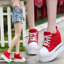 DL20045B 2017 new style women canvas shoes made in china platform canvas shoes