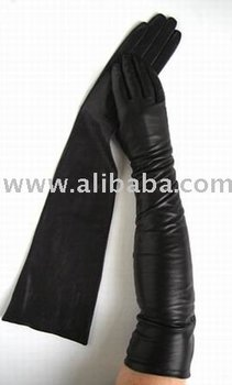Fashion Long Leather Gloves