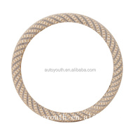 PA100032 steering wheel cover ADL car Rims Accessory simple design beige color