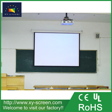XYSCREEN 100 inch matt white wall mount portable projector screen manual/motorized fixed frame projection screen
