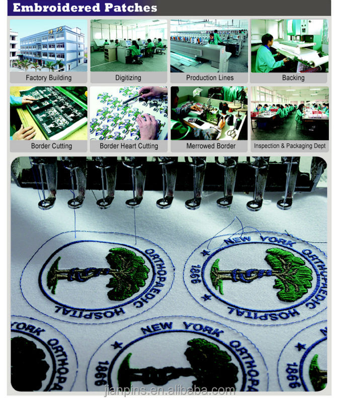 SGS Approved custom Iron on Patch/ Garment Label, Patches for Clothing