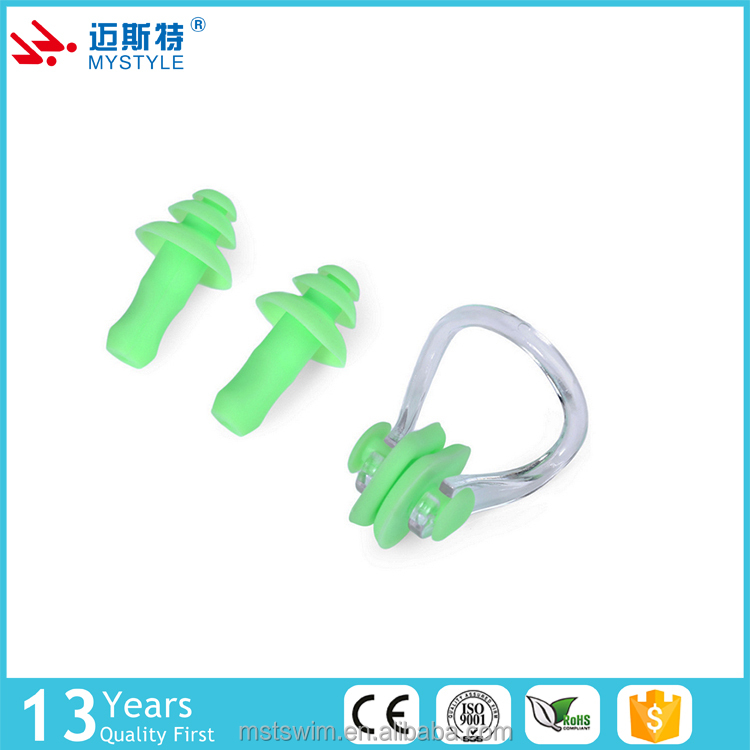 Wholesale hot sale promotion silicone swimming ear plugs with string