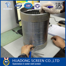 Lowest price Stainless steel 316 Johnson well screen/water well v wire screen for foundation pit preciptiation engineering