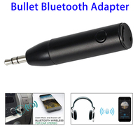 Bullet Style Mini Bluetooth V4.1 Music Receiver Adapter, 3.5mm AUX Audio Smart Wireless Bluetooth Car Kit