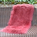 CX-D-24G hot sale fleece plush heat mongolian lamb fur wool blanket