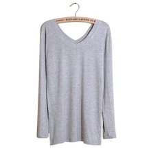 Women Ladies Loose Casual Long Sleeve T Shirt Tops Fashion V-Neck Blouse Tee