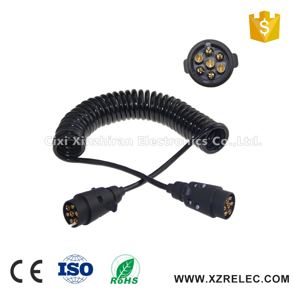 Cixi produced 7 pin spiral coiled wire cable