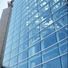 Double skin wall tempered glasses Unitized Curtain Wall