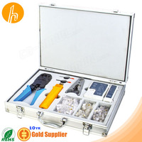 Network Tool Box for Crimper Punch tool Universal Striper Cable Tester