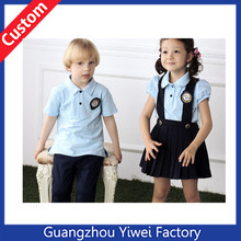 Custom cute high quality kindergarten school uniform