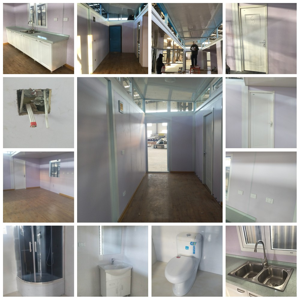 87m2 3 bedroom modular modern building cheap prefab glass steel shipping homes villa luxury container houses