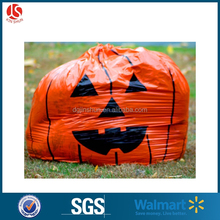 Hot Selling Outdoor Plastic Pumpkin Bag For Filling Grass And Leaf Leaves