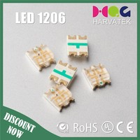 Super bright 20mA surface mount sanan chip rgb 4-pin led smd 1206
