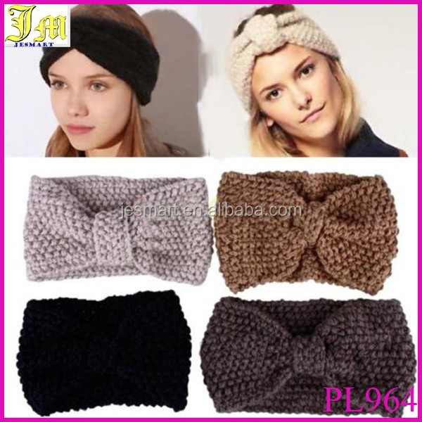 New Crochet Flower Bow Knit Knitted Headband Headwrap Ear Warmer Hair Band Wholesale