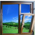 Aluminum double glazed awning window made by high quality aluminum profile