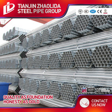DAQIUZHUANG GI steel pipes factory Construction material tube 1 1/2inch for steel frame works
