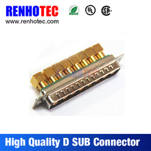 solder type 5 pin high current d-sub connector vga to coax converter