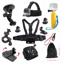 HOT 21 in 1 Family Kit Go Pro Accessories Set GoPros Accessories Pack for Go Pro4 3+ 3 sjcam SJ4000 SJ5000 SJ6000 Xiaomi Yi