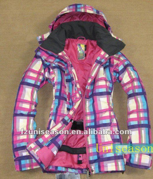 Checked Winter Womens Mens Anorak Jacket