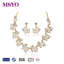MSYO brand 18K gold fashion jewellery import accessories new design pearl jewelry set