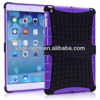 PC+TPU stand case for ipad air combo case for ipad 5 tpu ipad case
